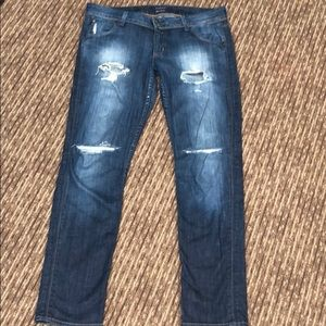 Used Hudson destroyed jeans sz 31 straight